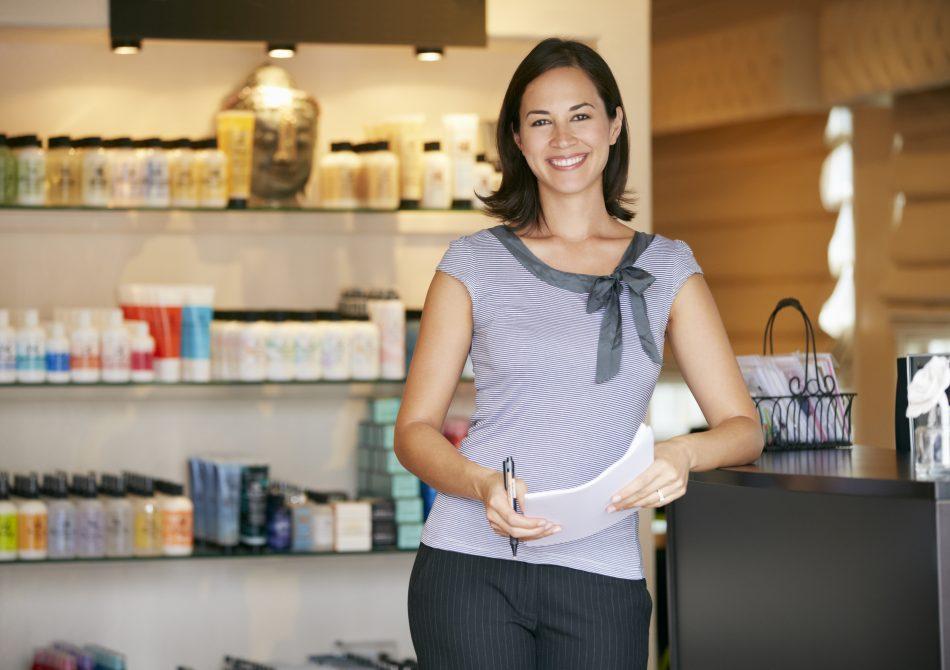 Portrait Beauty Product Shop Manager