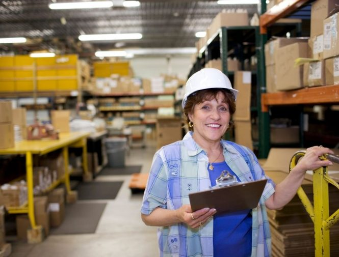 Women working in a movers and packing company