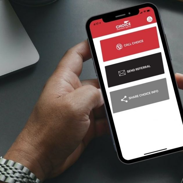 Mobile App of Choice Insurance Agency