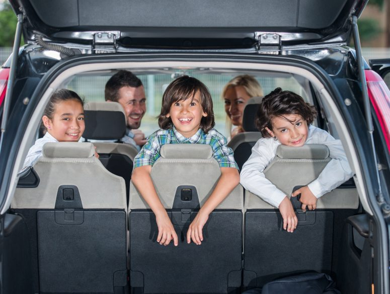 Family is enjoying their road trip