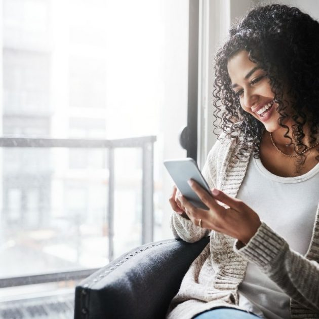 Women connected with someone over call