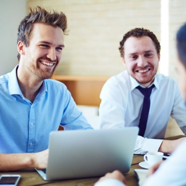 Insurance agent discuss about voluntary benefits with his client