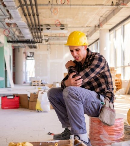 Contractor suffer from mild pain while working
