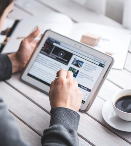 Choker Broker learning online module in choice university on his tablet