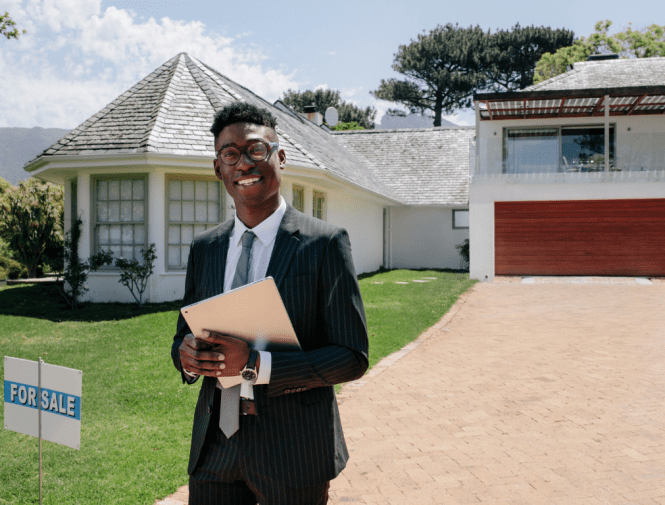 real estate agent or mortgage professional looks happy with Real Estate Closing Process