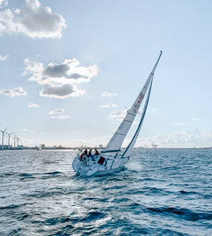 People enjoy Boat riding in a ocean